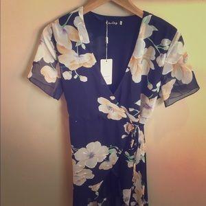 Chvity Flower Wrap Dress